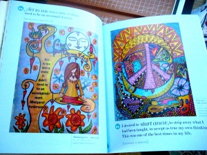 My art in Lesley Riley's book Quotes Illustrated